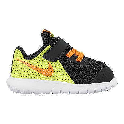 72c396373c173 Nike Toddler Flex Experience 5 Running Shoes - Black Orange Volt ...
