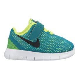 Nike Toddler Free Run Running Shoes - Teal/Black/Volt