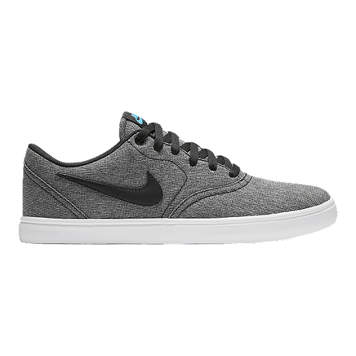 Mens Nike Sb Check Premium Black/Grey/Light Red Skateboarding Shoe
