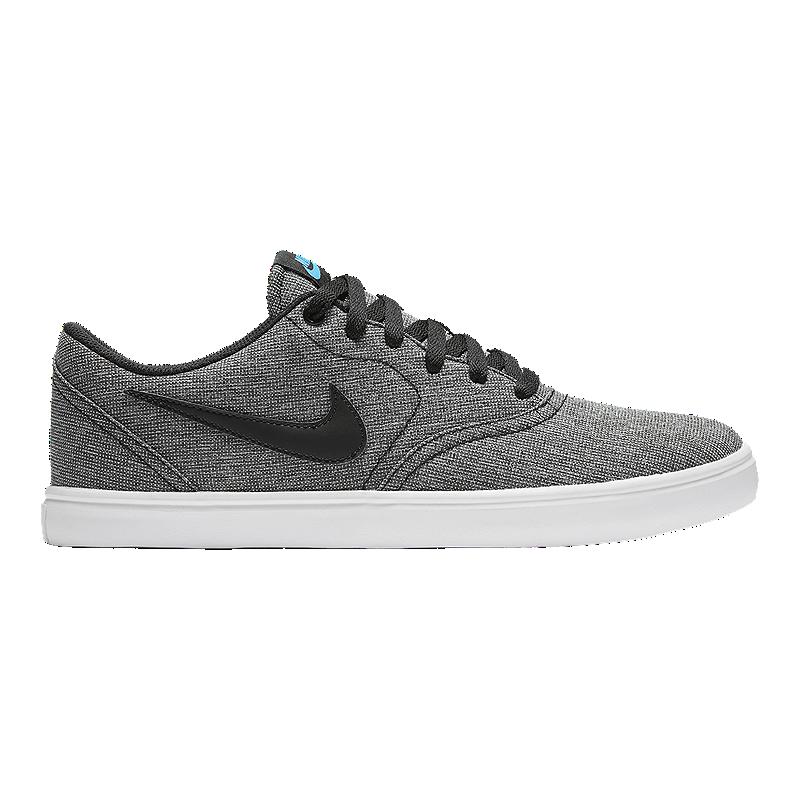 6fe84c88c07597 Nike Men s SB Check Solar Premium Skate Shoes - Black Grey