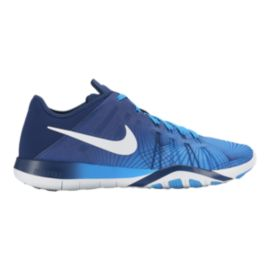 Nike Women's Free TR 6 Print Training Shoes - Blue/White