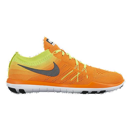 42cbc293c8bb Nike Women s Free TR Focus FlyKnit Training Shoes - Orange Yellow ...