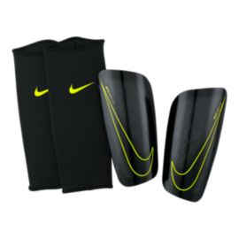 Nike Mercurial Lite Shinguards - Black/Volt
