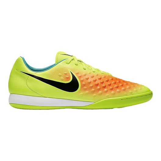 38bbe1826643 Nike Men s Magista Onda II Indoor Soccer Shoes - Yellow Orange Teal ...