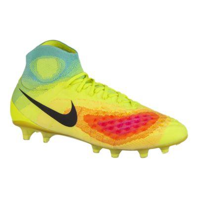 Nike Men\u0027s Magista Obra II FG Outdoor Soccer Cleats - Volt Green/Blue/Pink  | Sport Chek