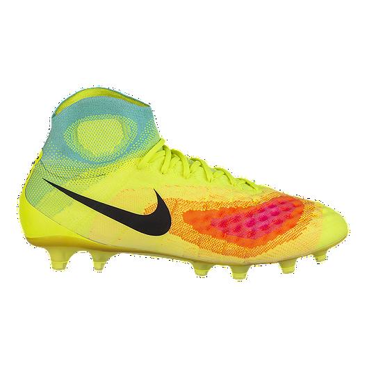 6a5ad51ea2fe Nike Men's Magista Obra II FG Outdoor Soccer Cleats - Volt Green/Blue/Pink