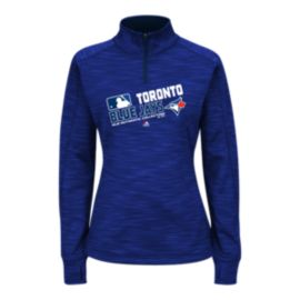 Toronto Blue Jays Authentic Collection Team Choice Women's 1/4 Zip Fleece