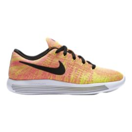 Nike Women's LunarEpic FlyKnit Unlimited Running Shoes - Yellow/Pink/Black