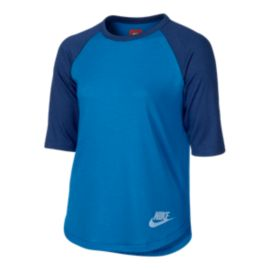 Nike Sportswear Girls' 3/4 Sleeve Shirt