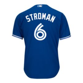 Toronto Blue Jays Marcus Stroman Cool Base PA Replica Blue Jersey