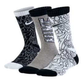 Nike Graphic Cotton Cushion Kids' Crew Socks - 3-Pack