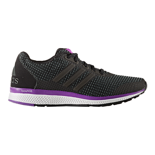 a22b62d3c595f adidas Women s Lightster Bounce Running Shoes - Black Purple White ...