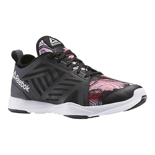 82d044ae483 Reebok Women s Cardio Inspire Low 2.0 Training Shoes - Black Pink Pattern