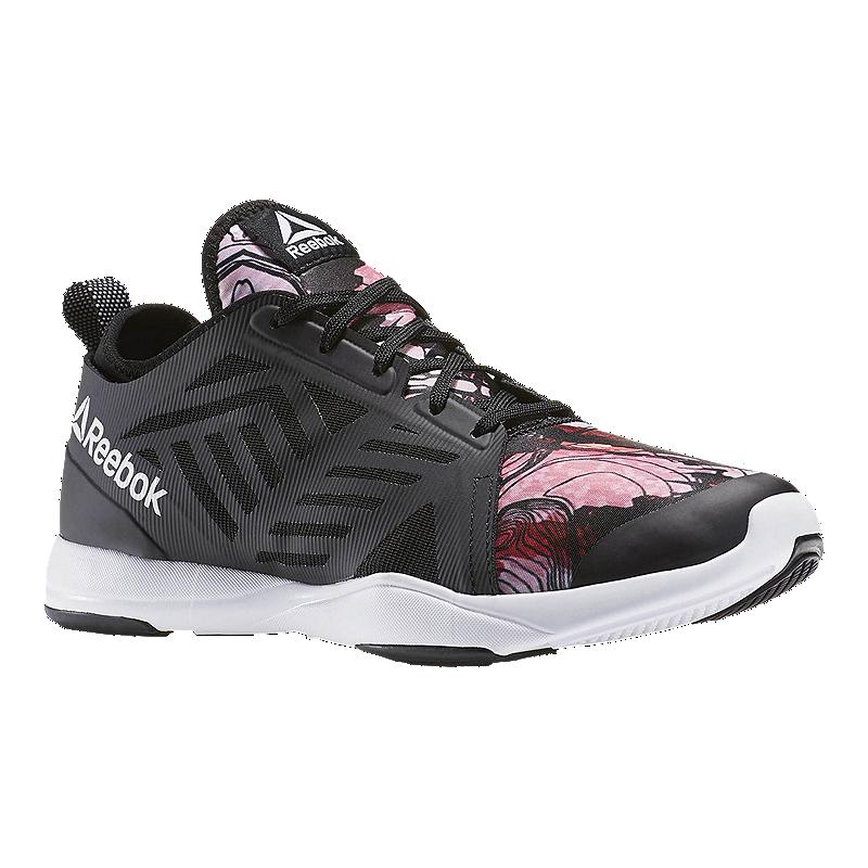 Reebok Women s Cardio Inspire Low 2.0 Training Shoes - Black Pink Pattern  52bedfef1