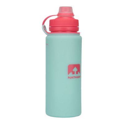 Nathan Flex Shot 750 Millilitre / 24 oz. Flexible Water Bottle - Light Blue