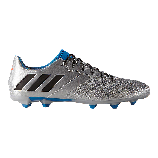 233e51916 adidas Men s Messi 16.3 FG Outdoor Soccer Cleats - Silver Blue Black ...
