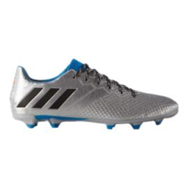 adidas Men's Messi 16.3 FG Outdoor Soccer Cleats - Silver/Blue/Black