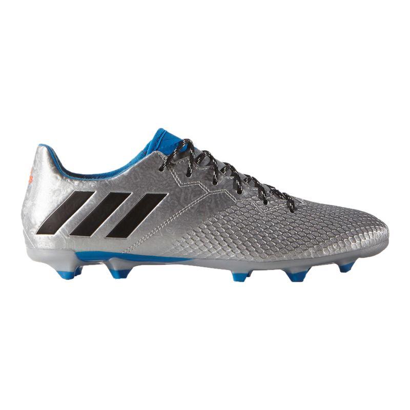 Adidas Menu0026#39;s Messi 16.3 FG Outdoor Soccer Cleats - Silver/Blue/Black   Sport Chek
