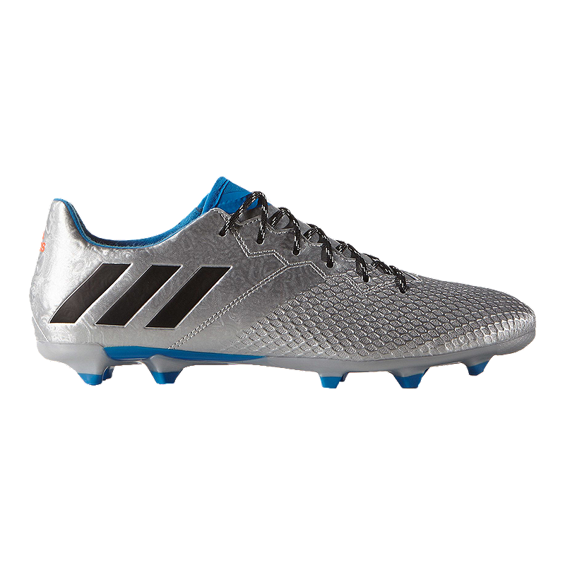 f79eee523be adidas Men s Messi 16.3 FG Outdoor Soccer Cleats - Silver Blue Black ...