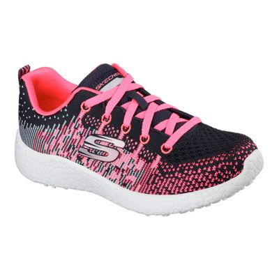 Skechers Girls' Burst Ellipse Casual Shoes - Charcoal/Pink