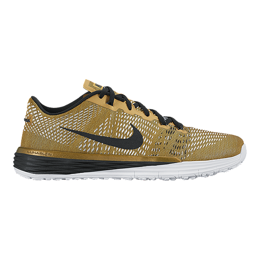 newest collection 68b21 a2dd7 Nike Men s Lunar Caldra TR Training Shoes - Gold Black White   Sport Chek