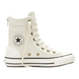 Converse Girls' Chuck Taylor Hi-Rise Casual Boots - White