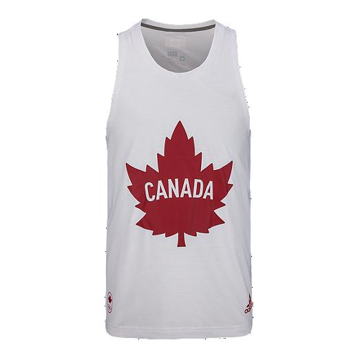 adidas Team Canada High Performance Collection Solid Leaf Prime Men s Tank  - B30615 WHITE b1b8cfc5b