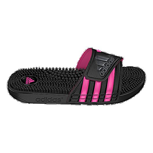 Chek Adissage BlackgreypinkSport Adidas Sandals Women's POZTkXiu