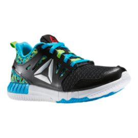 Reebok Kids' ZPrint 3D Grade School Running Shoes - Black/Green/Blue