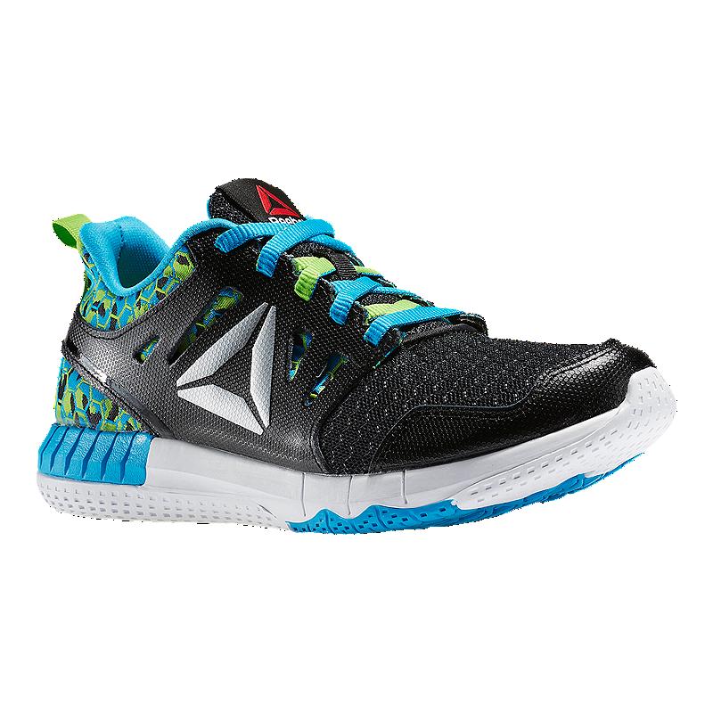 024232eaa Reebok Kids  ZPrint 3D Grade School Running Shoes - Black Green Blue ...