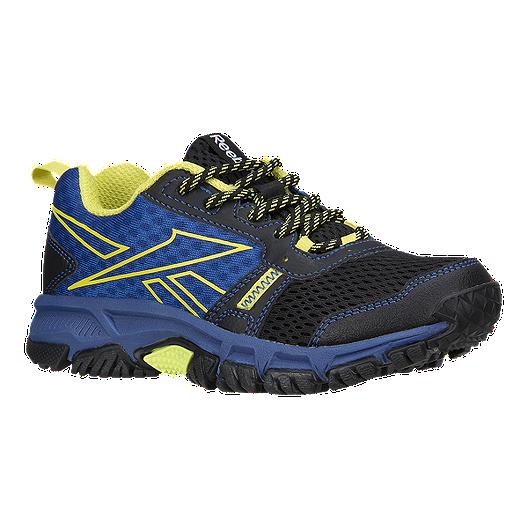 b46a4dcc27da Reebok Kids  RidgeRider Trail Running Shoes - Navy Blue Yellow ...