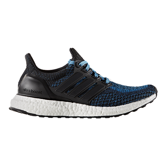 768162ff3 adidas Kids  Ultra Boost Grade School Running Shoes - Black Blue ...
