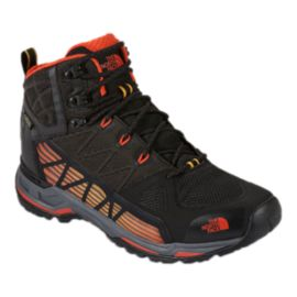 The North Face Men's Ultra GTX Surround Mid Hiking Boots - Black/Orange
