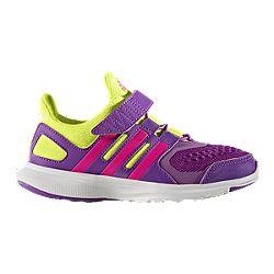 image of adidas Girls' HyperFast 2.0 Preschool Running Shoes - Purple/Pink /Yellow