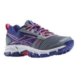 Reebok Girls'  RidgeRider Trail Running Shoes - Grey/Purple/Rose