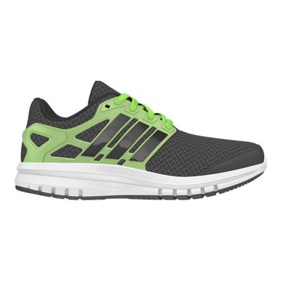 adidas Kids' Energy Cloud Grade School Running Shoes - Black/Green