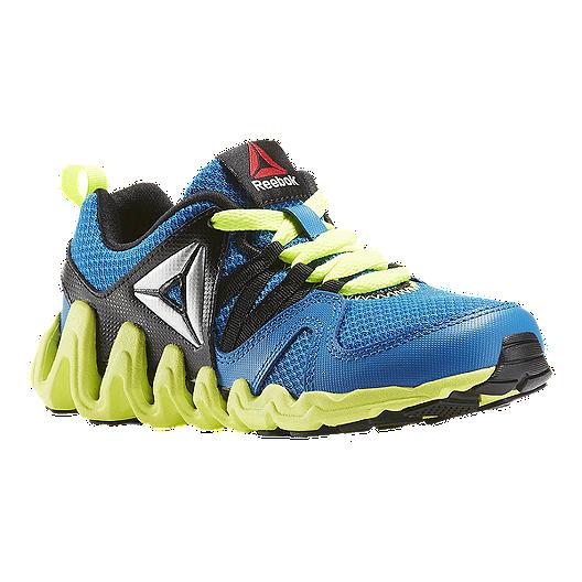 aaf6e55d0616 Reebok Kids  Zig Big-N-Fast Fire Preschool Running Shoes -  Blue Black Yellow