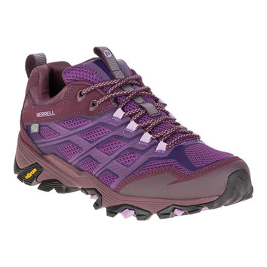 4e309735748 Merrell Women's Moab FST Waterproof Hiking Boots - Grey/Purple | Sport Chek