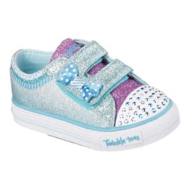 Skechers Twinkle Toes Shuffles Hi-Top Girls' Toddler Casual Shoes