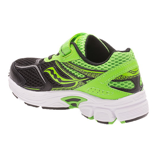 e9b25cd2 Saucony Kids' Cohesion 9 AC Preschool Running Shoes - Black/Green