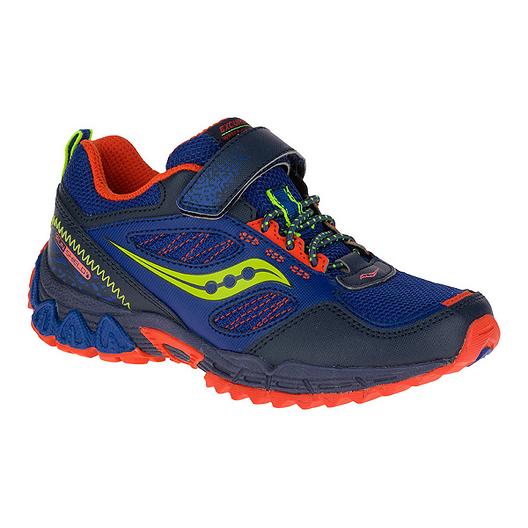 1d83043733 Saucony Kids' Excursion Shield AC Wide Running Shoes - Blue/Citron ...