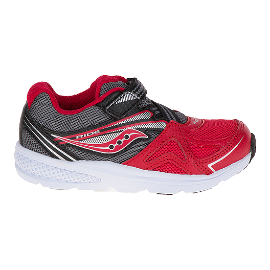 Saucony Toddler Baby Ride Wide Running Shoes RedBlack