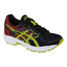 ASICS Kids' Gel Contend 3 Grade School Running Shoes - Black/Lime/Red