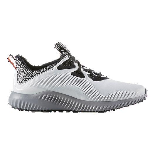 183e4141b5c adidas Men s Alpha Bounce Running Shoes - White Black Grey