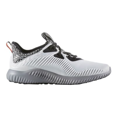 adidas Men\u0027s Alpha Bounce Running Shoes - White/Black/Grey