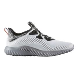 adidas Men's Alpha Bounce Running Shoes - White/Black/Grey