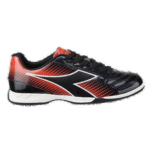 6e3e38b5a Diadora Kids  Forza IN Indoor Soccer Shoes - Black Red White