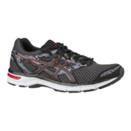ASICS Men's Gel Excite 4 Running Shoes - Dark Grey/Silver/Red