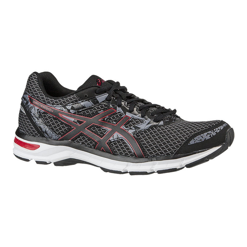 2d72c71b82e ASICS Men s Gel Excite 4 Running Shoes - Dark Grey Silver Red ...