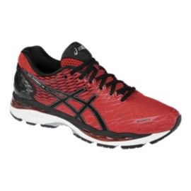 ASICS Men's Gel Nimbus 18 Running Shoes - Red/Black/White